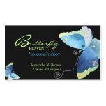 Tarjeta de visita personalizada mariposa azul eleg