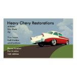 Tarjeta de visita pesada de Chevy