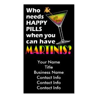 Tarjeta de visita - píldoras felices de los martin