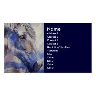 Tarjeta de visita pintada del caballo