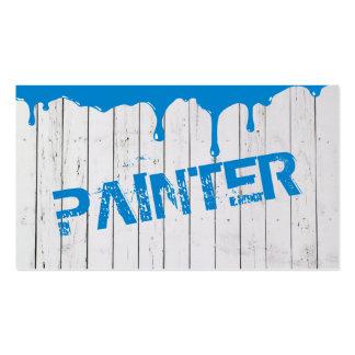 Tarjeta de visita pintada madera blanca de la pint