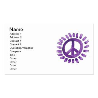 tarjeta de visita pintada púrpura del signo de la