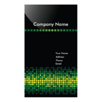 Tarjeta de visita - pixeles (verde)