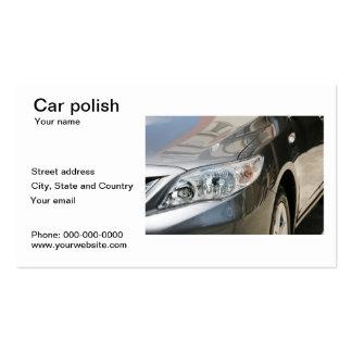 Tarjeta de visita polaca del coche