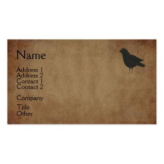 Tarjeta de visita primitiva del cuervo