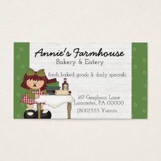 Tarjeta de visita primitiva del país de Annie