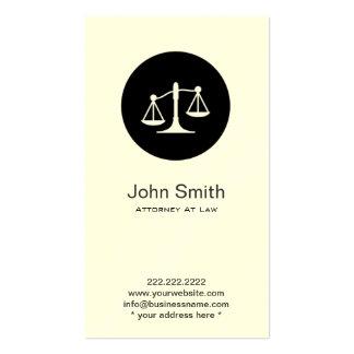 Tarjeta de visita procurador/abogado del icono