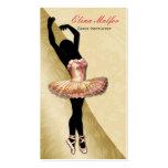 tarjeta de visita pródigo de la bailarina del oro