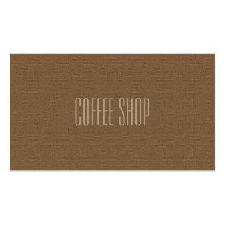 Tarjeta de visita profesional de la cafetería