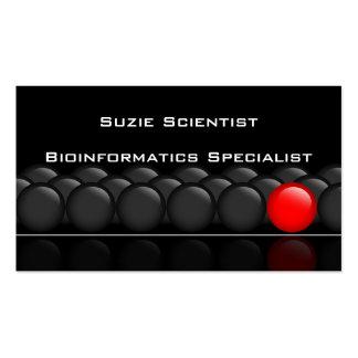 Tarjeta de visita profesional de la ciencia del ci