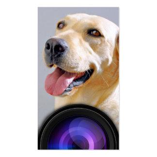 Tarjeta de visita profesional de la lente del fotó