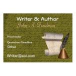 Tarjeta de visita profesional de los escritores