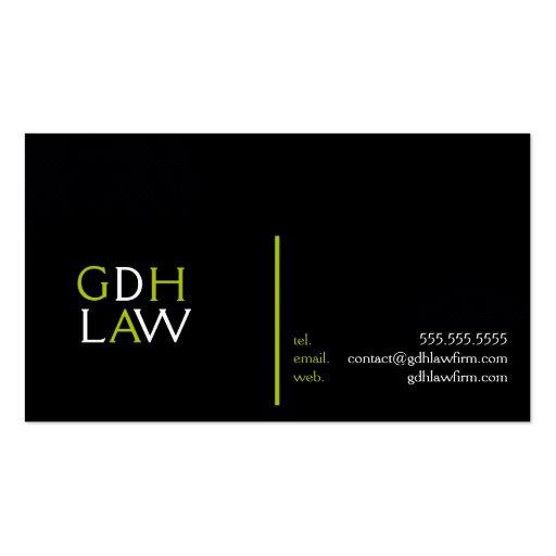 Tarjeta de visita profesional del abogado de la of