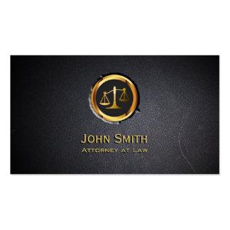 Tarjeta de visita profesional del abogado del negr