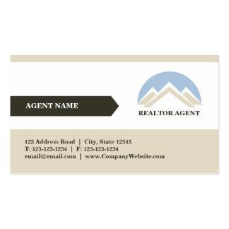 Tarjeta de visita profesional del agente inmobilia