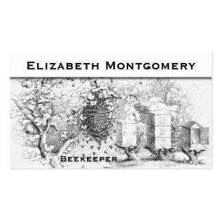 Tarjeta de visita profesional del apicultor del