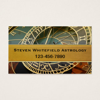 Tarjeta de visita profesional del astrólogo