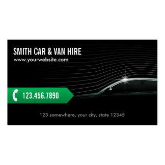 Tarjeta de visita profesional del coche y de Van H