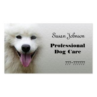 Tarjeta de visita profesional del cuidado del perr