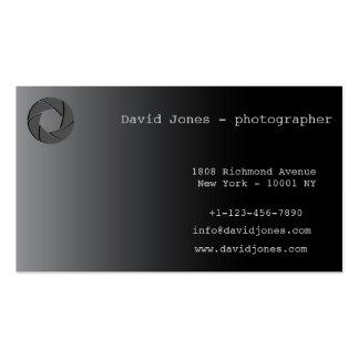 tarjeta de visita profesional del fotógrafo