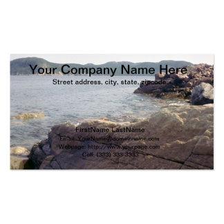 Tarjeta de visita profesional del lago mountain ro