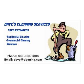 Tarjeta de visita profesional del limpiador