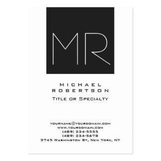 Tarjeta de visita profesional del monograma