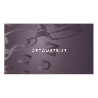 Tarjeta de visita profesional del optometrista