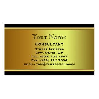 Tarjeta de visita profesional del oro