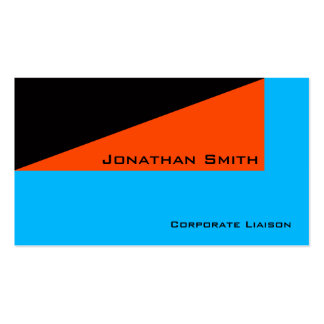 Tarjeta de visita profesional minimalista anaranja