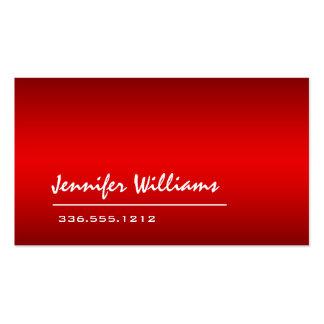 Tarjeta de visita profesional minimalista roja lla