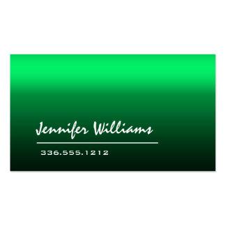 Tarjeta de visita profesional minimalista verde ll