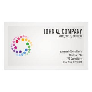 Tarjeta de visita profesional moderna del logotipo