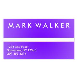 Tarjeta de visita profesional púrpura y blanca