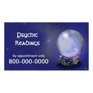 Tarjeta de visita PSÍQUICA de las lecturas