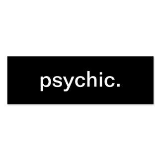 Tarjeta de visita psíquica