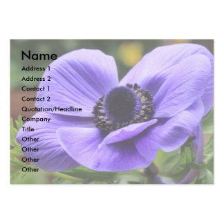 Tarjeta de visita púrpura de la anémona
