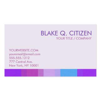 Tarjeta de visita púrpura de la barra de color