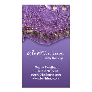 Tarjeta de visita púrpura de la danza del vientre
