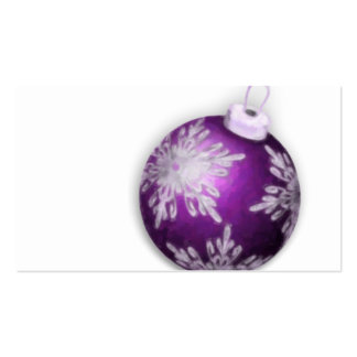 Tarjeta de visita púrpura de la etiqueta del