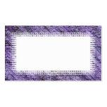 Tarjeta de visita púrpura de la frontera