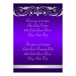 Tarjeta de visita púrpura de la grande duquesa hué