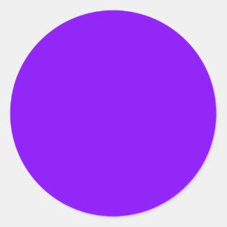 Tarjeta de visita púrpura de la herramienta viva pegatina redonda