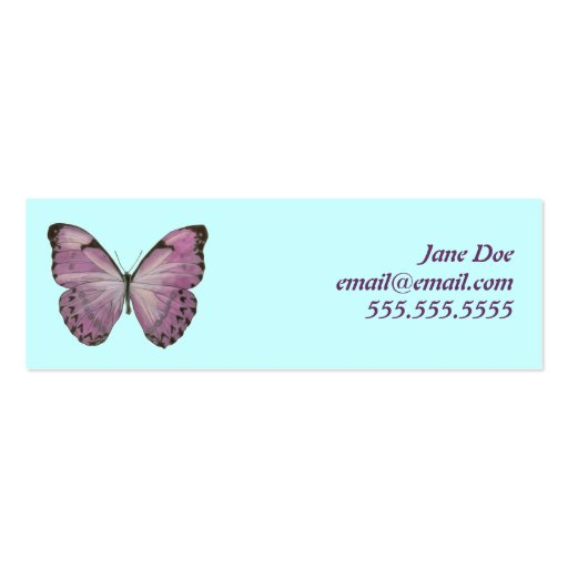 Tarjeta de visita púrpura de la mariposa