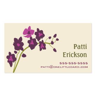 Tarjeta de visita púrpura de la orquídea