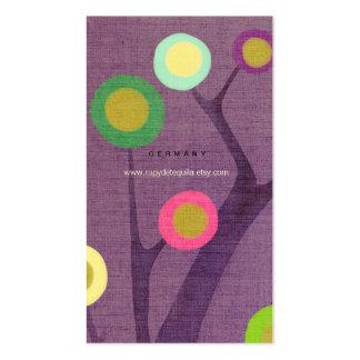 Tarjeta de visita púrpura del árbol