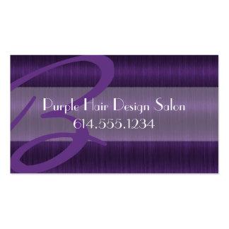 Tarjeta de visita púrpura del Beautician del estil