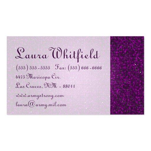 Tarjeta de visita púrpura del Glitz del disco de l