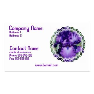 Tarjeta de visita púrpura del iris barbudo