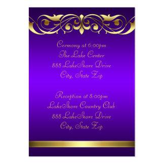 Tarjeta de visita púrpura del oro de la grande duq